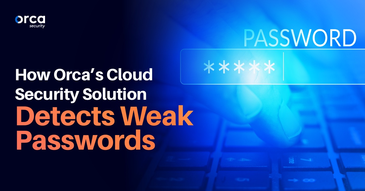 How Orca's Cloud Security Solution Detects Weak Passwords